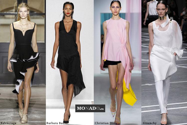 Тенденции сезона весна-лето 2013 - ассиметричность в одежде