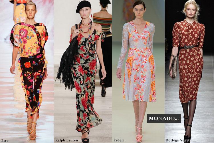 Тенденции сезона весна-лето 2013 - цветной принт в платьях
