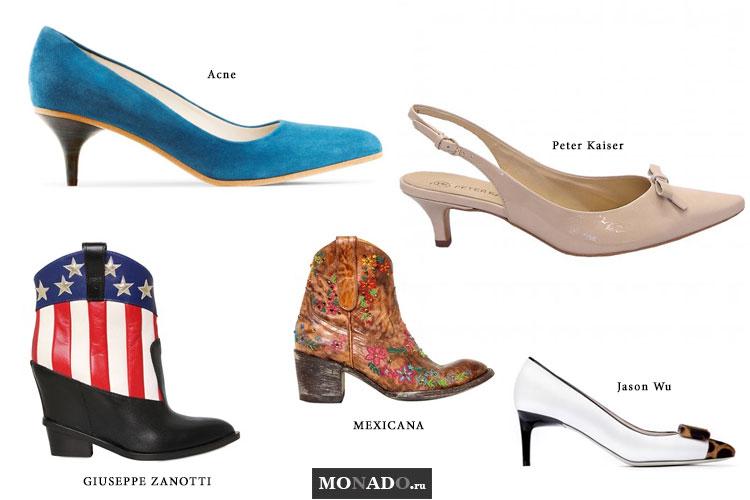 Тенденции сезона весна-лето 2013 - обувь на низком каблуке