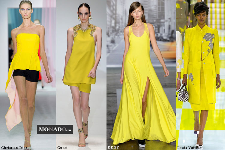 Тенденции сезона весна-лето 2013 - оттенки желтого в одежде