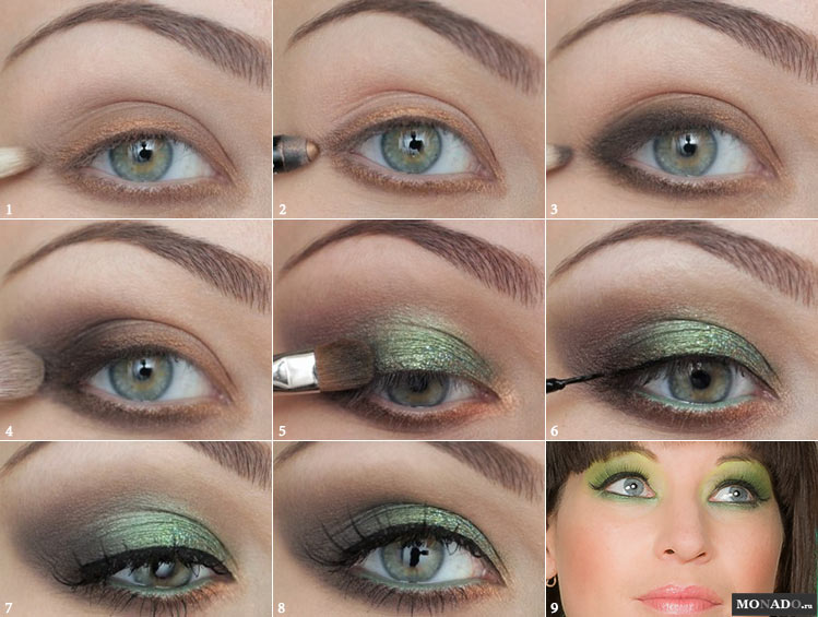 Делаем макияж в зеленых тонах