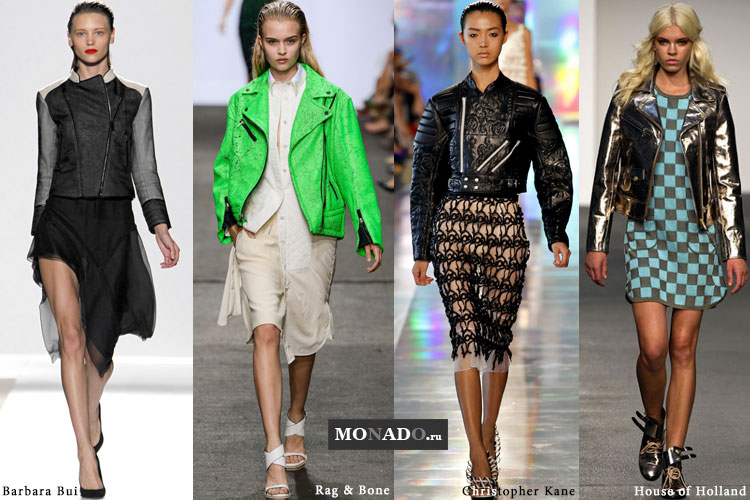 Тренды весенне-летнего сезона 2013 - кожаные байкерские куртки