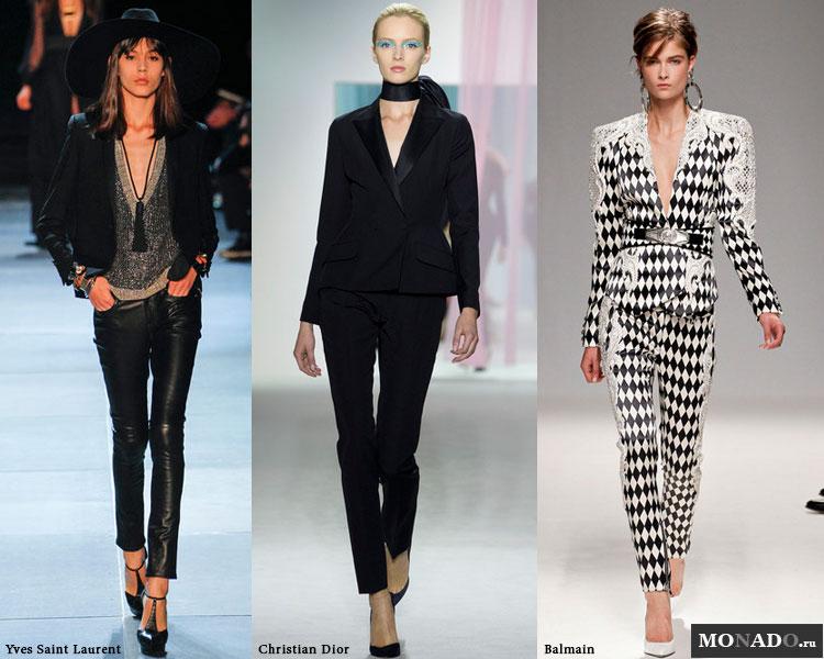 Модные укороченные зауженные брюки сезона весна-лето 2013