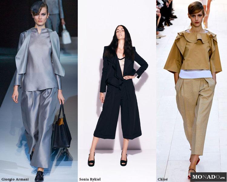 Стильные широкие укороченные брюки сезона весна-лето 2013