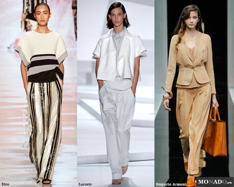 Широкие женские брюки сезона весна-лето 2013